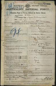 WHIP Norman William Robert : Service Number - 50722 : Place of Birth - Roma QLD : Place of Enlistment - Roma QLD : Next of Kin - (Father) WHIP Albert Philip