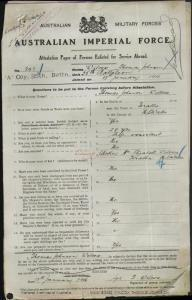 WILCOX Thomas Johnson : Service Number - 243 : Place of Birth - Teralba NSW : Place of Enlistment - Newcastle NSW : Next of Kin - (Mother) WILCOX Elizabeth