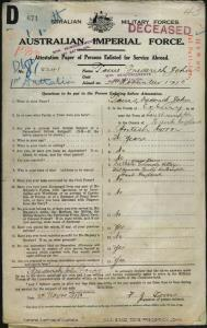 TOMS Frederick John : Service Number - 5241 : Place of Birth - Southampton England : Place of Enlistment - Nowra NSW : Next of Kin - (Father) TOMS George