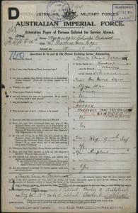 TREBILCOCK Charles Edward : Service Number - 567 : Place of Birth - Ulverstone TAS : Place of Enlistment - Claremont TAS : Next of Kin - (Mother) TREBILCOCK Margaret Jane