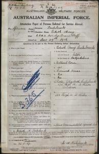 TREBILCOCK Edith Amy : Service Number - Staff Nurse : Place of Birth - Luton England : Place of Enlistment - N/A WA : Next of Kin - (Sister) TREBILCOCK Elizabeth
