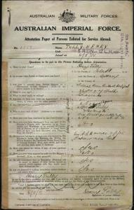 TULLY Henry : Service Number - 1558 : Place of Birth - Sydney NSW : Place of Enlistment - Liverpool NSW : Next of Kin - (N/A) TULLY Mary Agnes