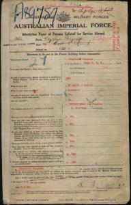 VAUGHAN Reginald Thomas : Service Number - 3662 : Place of Birth - Bega NSW : Place of Enlistment - Brisbane QLD : Next of Kin - (Mother) VAUGHAN Elizabeth