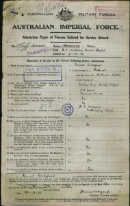 WAKEFORD Muriel Leontine : Service Number - Staff Nurse : Place of Birth - Bathurst NSW : Place of Enlistment - Sydney NSW : Next of Kin - (N/A) WAKEFORD H G