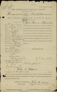 Donnelly, John Francis; Army Number - Not Given; Date of birth - Not Given