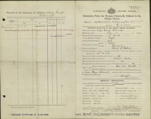 Williscroft, Vivian George; Army Number - VE/235223; Date of birth - 06 March 1895