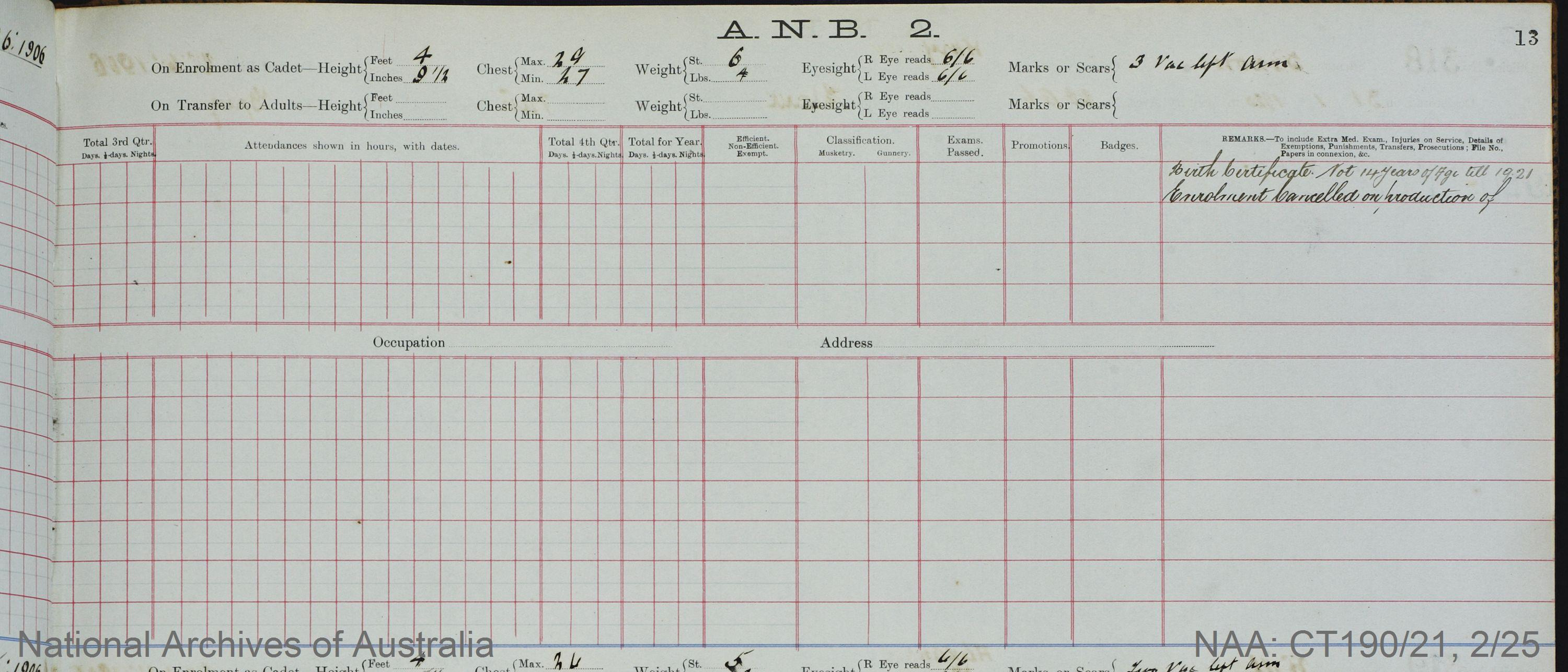 SURNAME - BROWN;  GIVEN NAME(S) - Stanley;  OFFICIAL NUMBER - 315;  DATE OF BIRTH - 28 June 1906;  PLACE OF BIRTH - [Unknown];  NEXT OF KIN - [Unknown] ;  SERVICE/STATION - Port Fairy;  REGISTRATION DATE - 28 January 1920