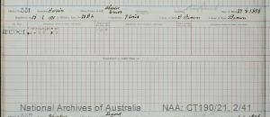 SURNAME - SWAIN;  GIVEN NAME(S) - Charles Emos;  OFFICIAL NUMBER - 331;  DATE OF BIRTH - 27 August 1906;  PLACE OF BIRTH - [Unknown];  NEXT OF KIN - [Unknown] ;  SERVICE/STATION - Port Fairy;  REGISTRATION DATE - 18 February 1920