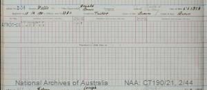SURNAME - WALLIS;  GIVEN NAME(S) - Donald Bruce;  OFFICIAL NUMBER - 334;  DATE OF BIRTH - 6 June 1906;  PLACE OF BIRTH - [Unknown];  NEXT OF KIN - [Unknown] ;  SERVICE/STATION - Port Fairy;  REGISTRATION DATE - 13 December 1920
