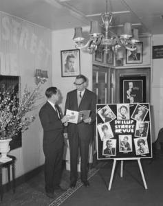 Minnesota man finds amazing Australian theatre - Dr GT Vane and Erick Duckworth, Phillip Street, Theatre Manager, photographer J Tanner, 1960, National Archives of Australia, A1200, L35915